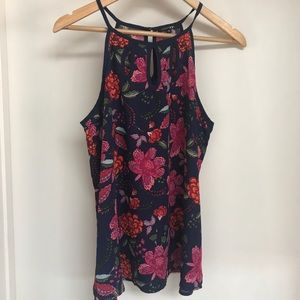PaperMoon Floral racerback tank PT6613